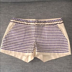 Joie cotton embroidered shorts
